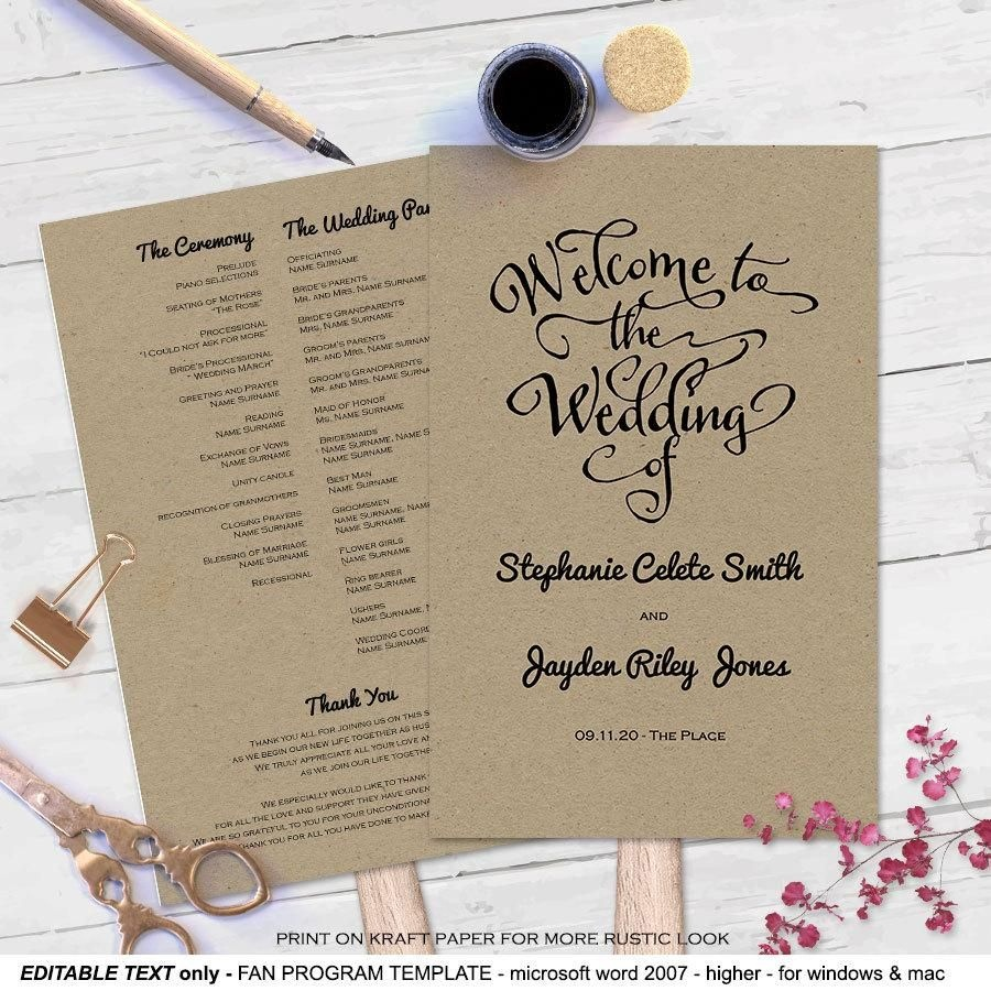 001 Free Wedding Program Fan Templates Template Excellent Ideas - Free Printable Wedding Fan Templates