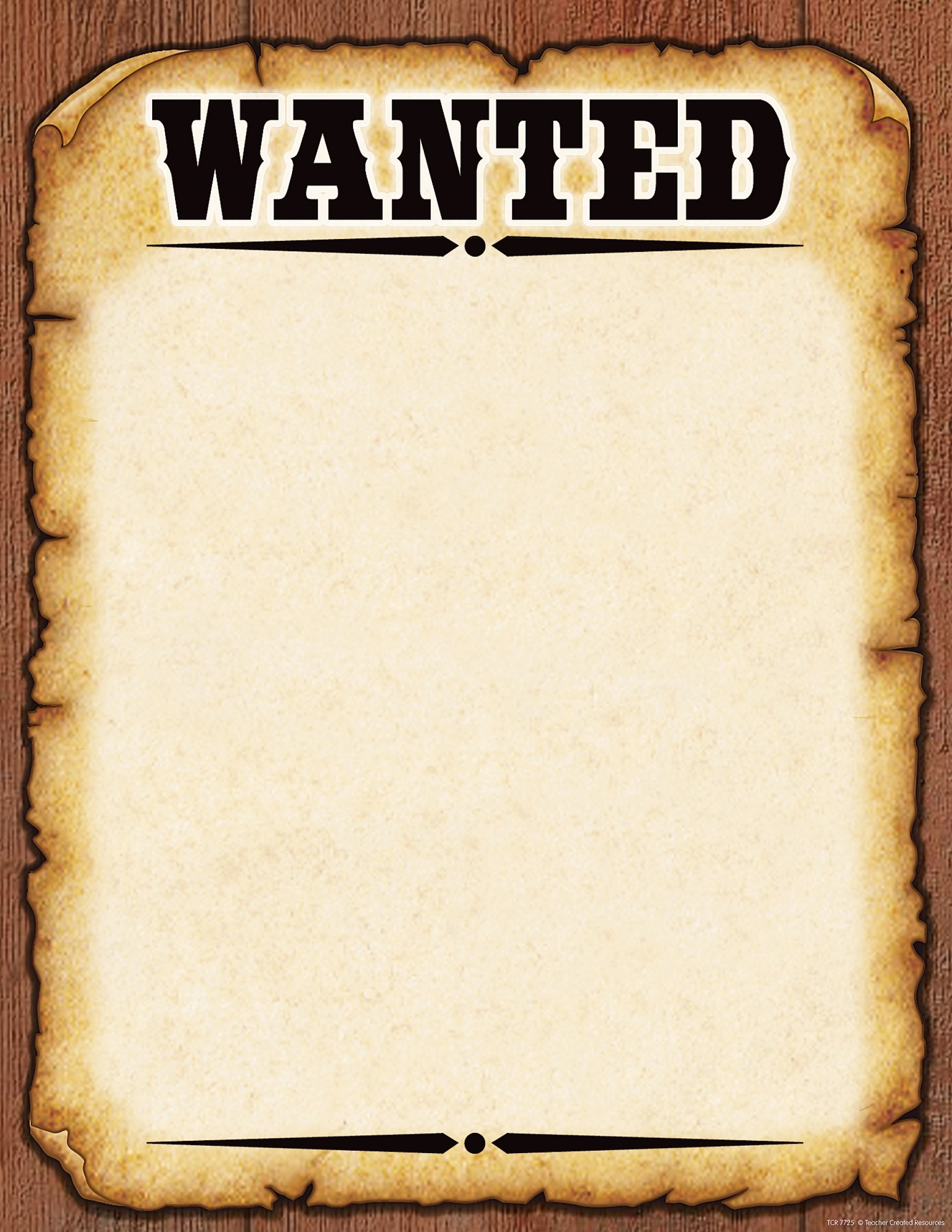 001 Wanted Poster Template Free Printable Make Your Own 150813 - Wanted Poster Printable Free