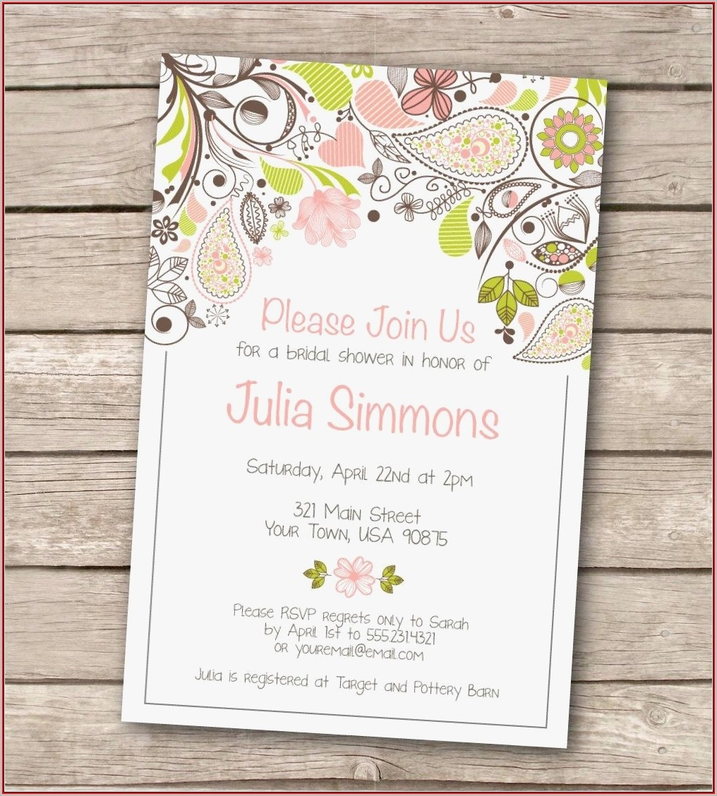 003 Free Bridal Shower Invitation Templates For Microsoft Word - Free Printable Bridal Shower Invitations Templates