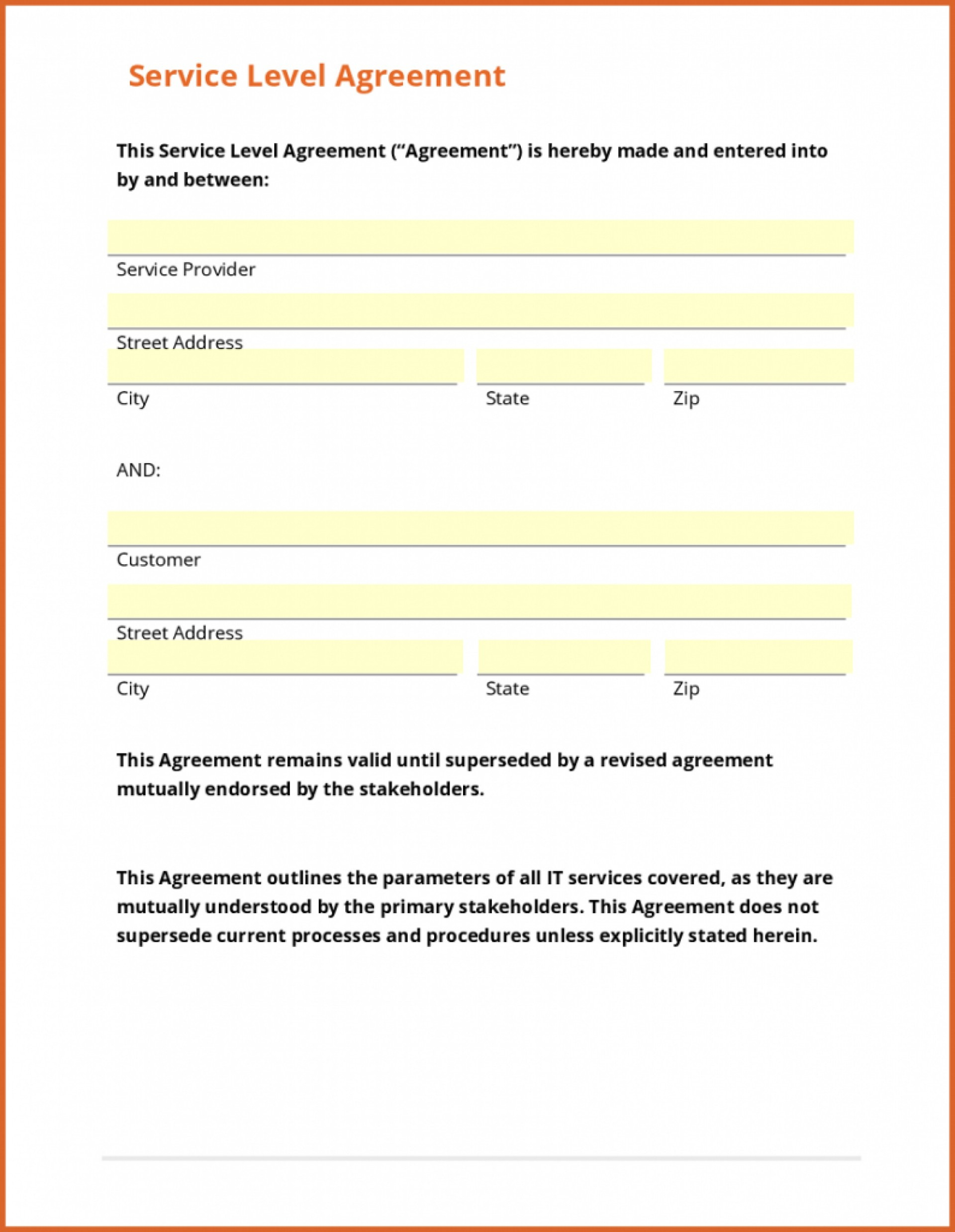 003 Template Ideasice Agreement Form Free Contract Us Sample Simple - Free Printable Service Contract Forms