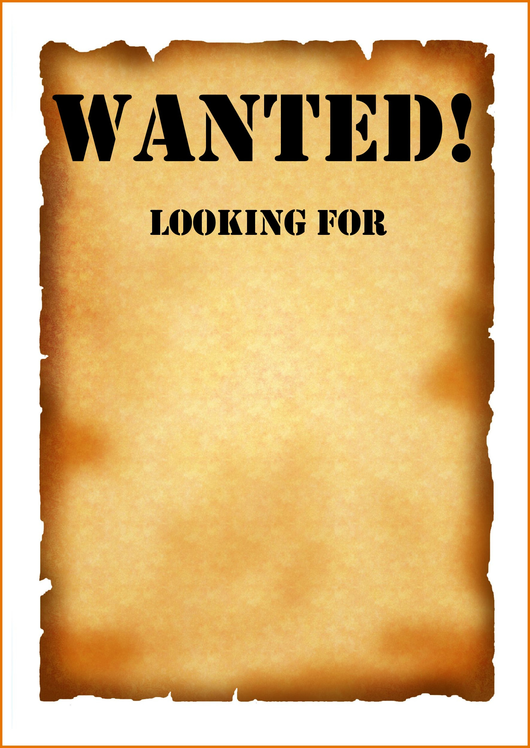 005 Template Ideas Blank Wanted Poster With Make Free Download - Free Printable Wanted Poster Invitations