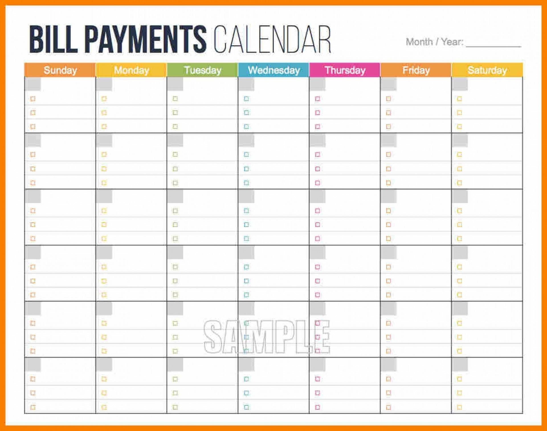 006 Bill Payment Pay Schedule Template Unusual Ideas Spreadsheet - Free Printable Bill Payment Schedule