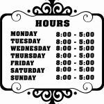 008 Business Hours Template Microsoft Word Elegant Best Of Printable   Free Printable Business Hours Sign