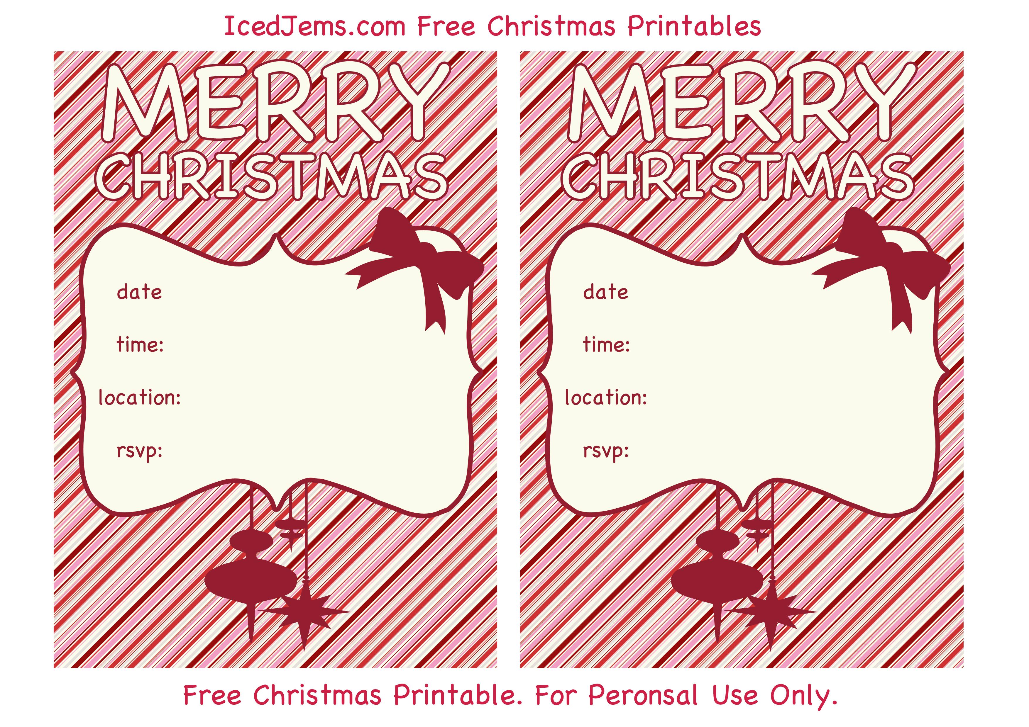 009 Christmas Party Invite Template Ideas Printable Invitations - Christmas Party Invitation Templates Free Printable