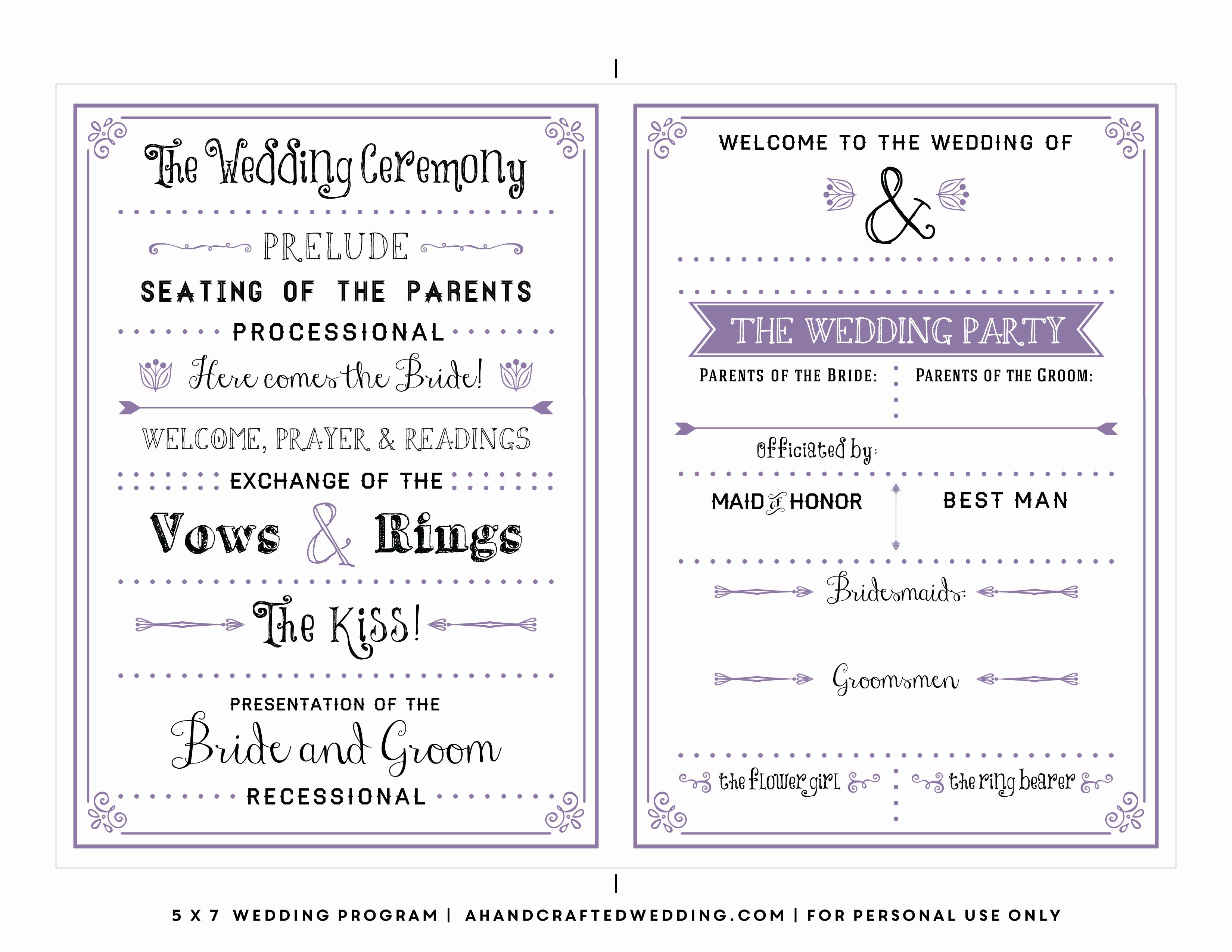 010 Wedding Program Templates Free Download Template Downloads New - Free Printable Fan Wedding Programs