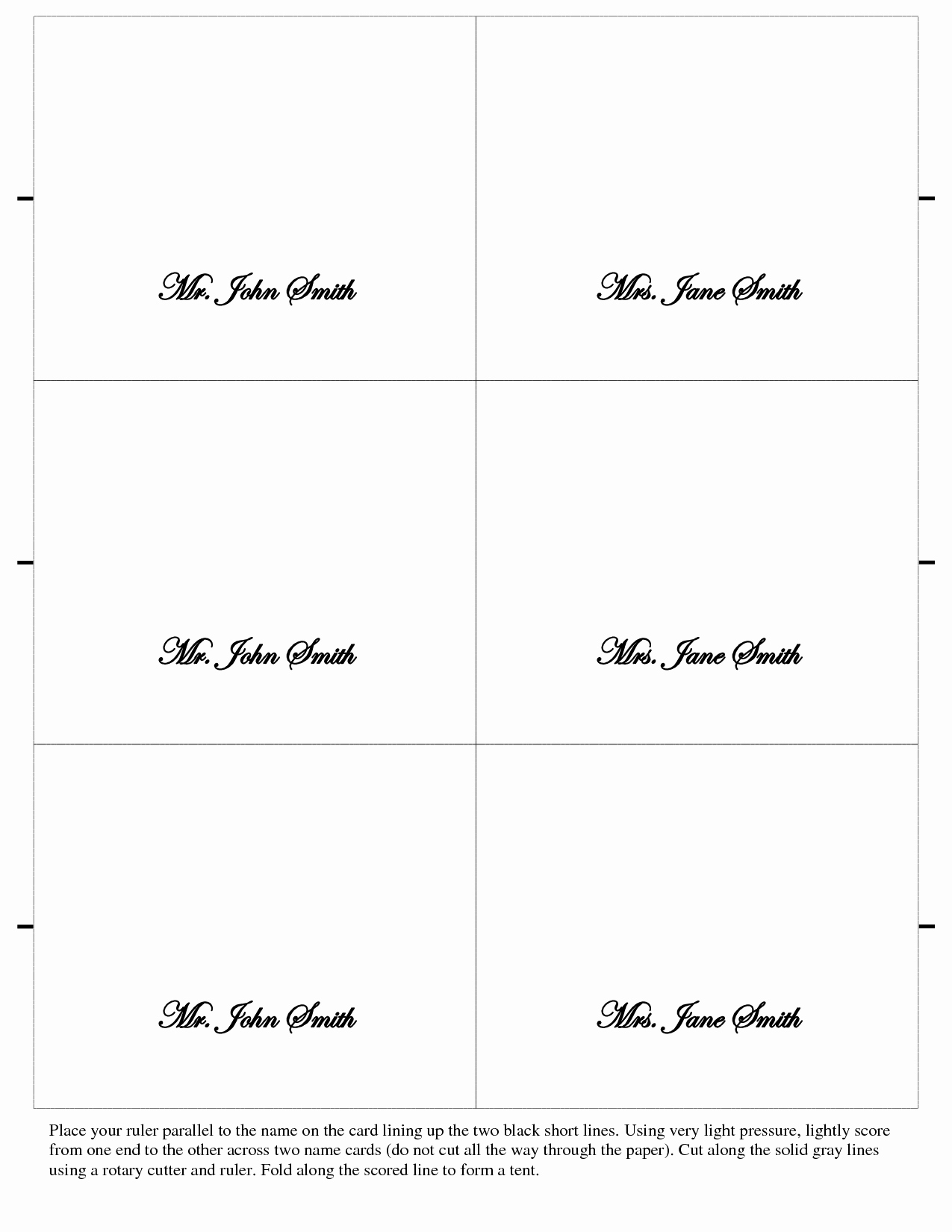 024 Free Printable Place Cards Template Ideas Blank Card Elegant - Free Printable Place Cards Template