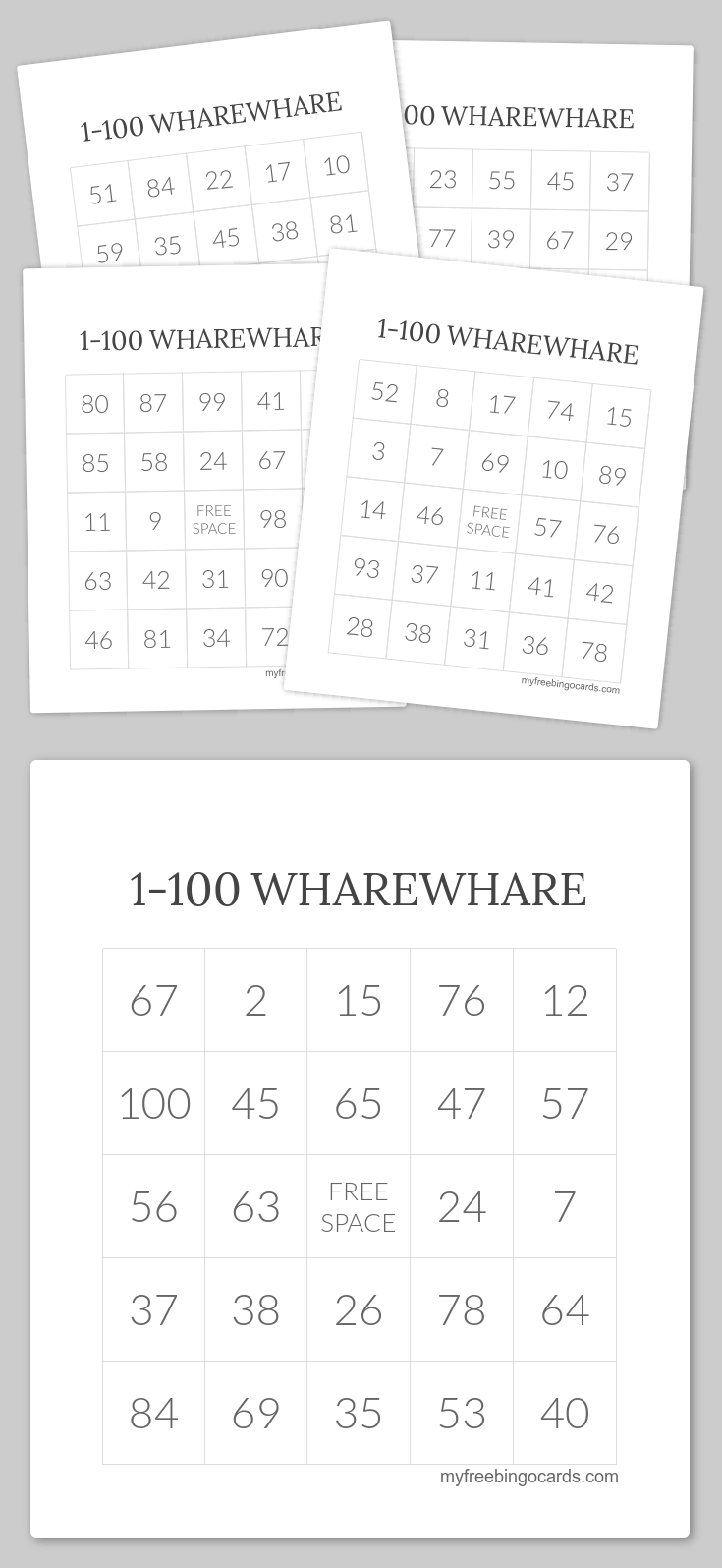 1-100 Wharewhare Bingo | Wharewhare 1-100 | Free Printable Bingo - Free Printable Bingo Cards 1 100