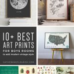 10+ Art Prints For Boys Rooms (Plus Free Printable!) | Orc Week 4   Free Printable Art