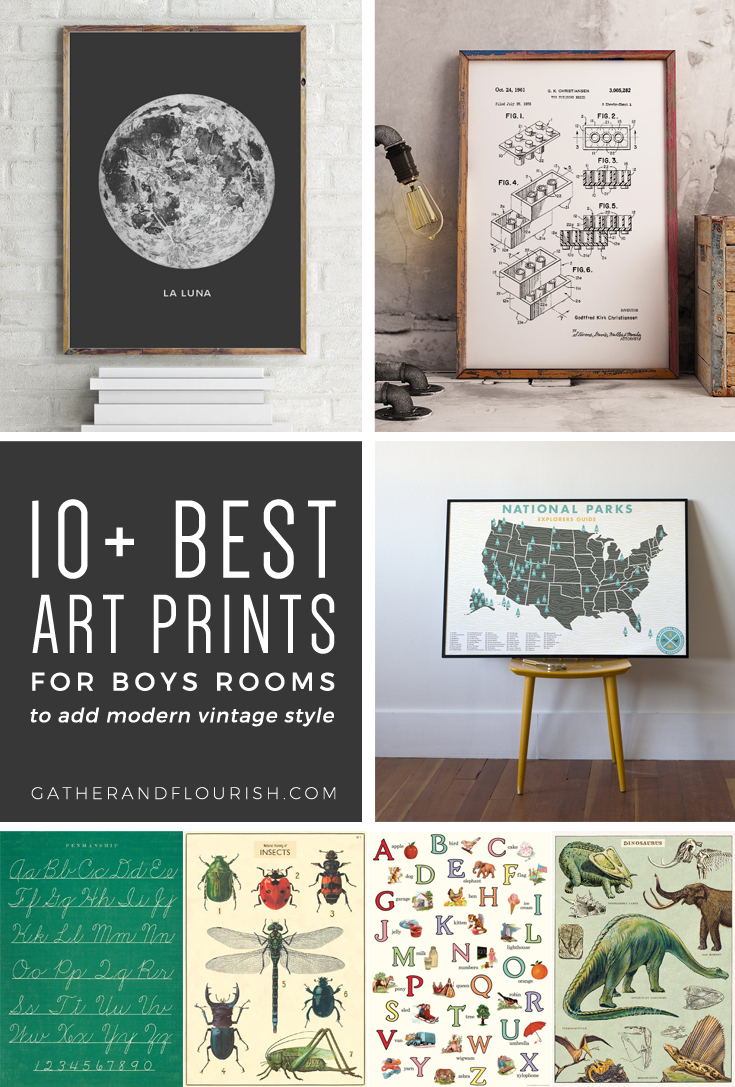 10+ Art Prints For Boys Rooms (Plus Free Printable!) | Orc Week 4 - Free Printable Art
