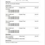 10 Blank Resume Template Pdf Professional List Free Printable 3   Free Printable Blank Resume