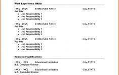 10 Blank Resume Template Pdf Professional List Free Printable 3 – Free Printable Resume
