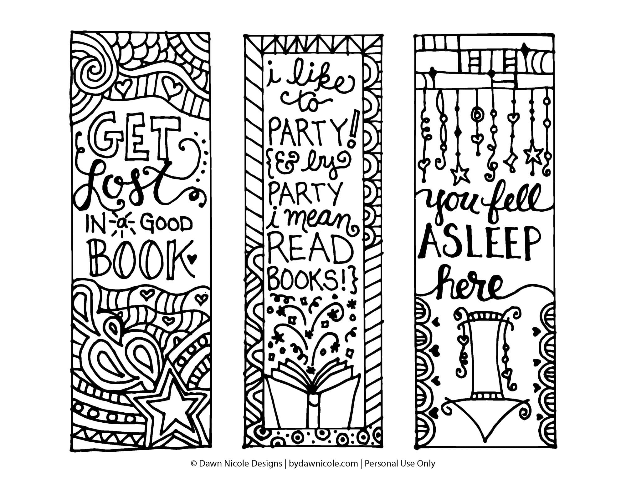 10 [Completely Free] Adult Coloring Bookmarks - Chronic Illness - Free Printable Bookmarks To Color