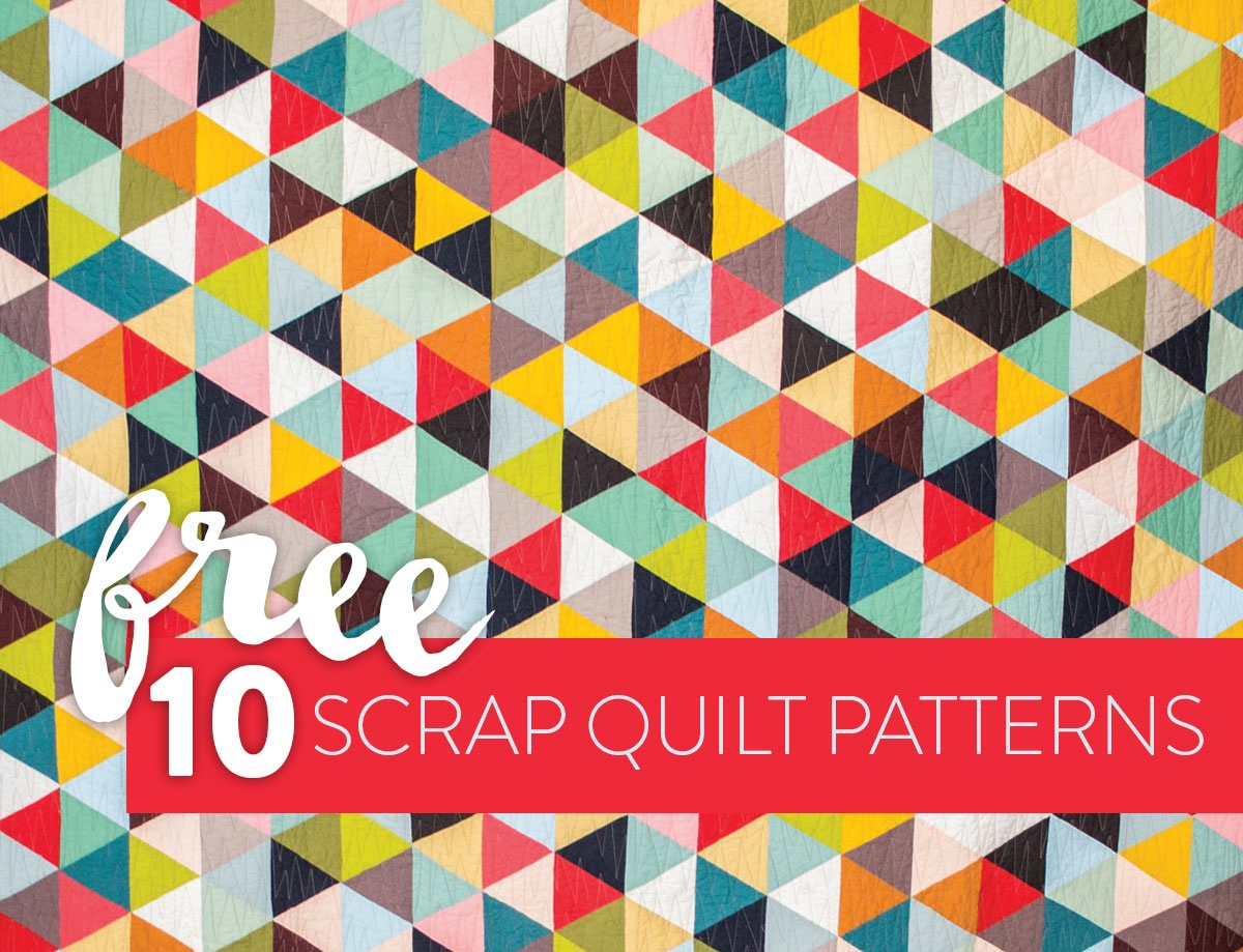 10 Fun & Free Scrap Quilt Patterns - Suzy Quilts - Quilt Patterns Free Printable