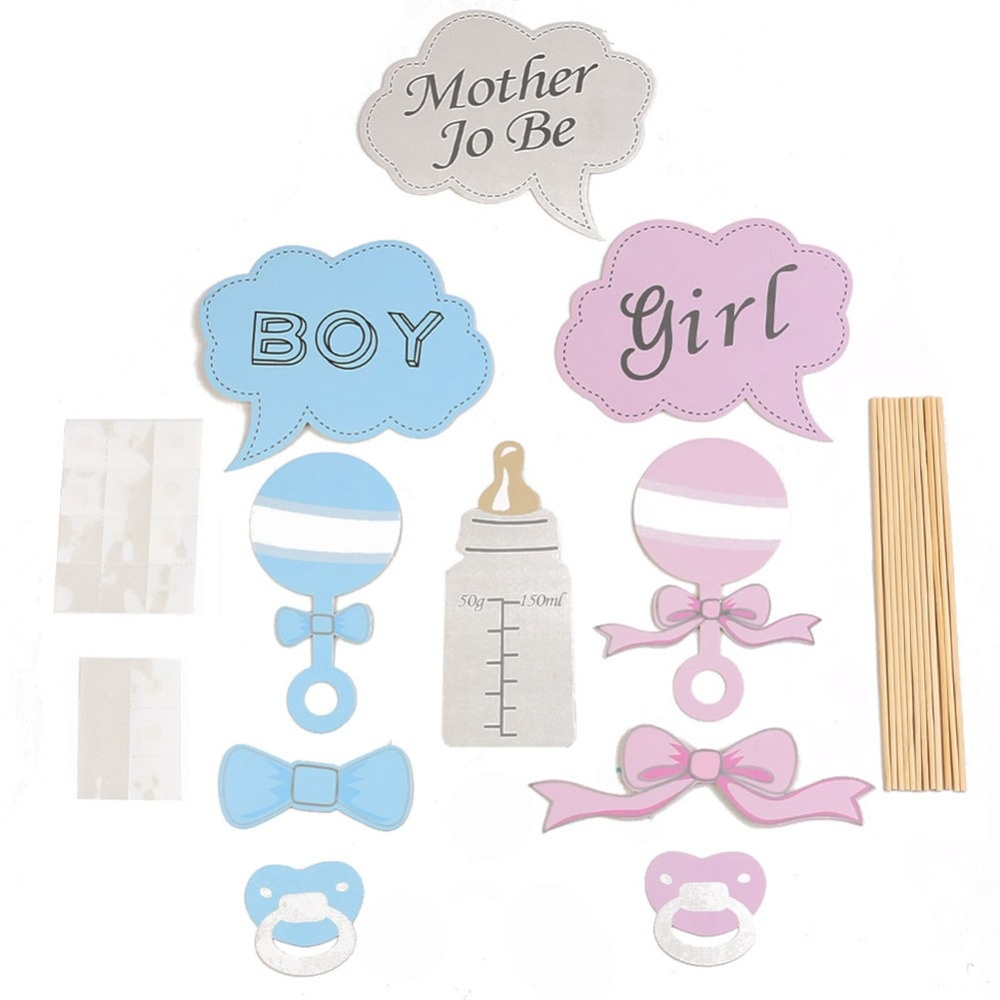 10 Pcs Baby Shower Party Props Baby Bottle Cardboard Photo Booth - Free Printable Boy Baby Shower Photo Booth Props
