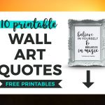 10 Printable Black And White Quotes That Inspire | It's All You Boo   Free Printable Wall Art Quotes