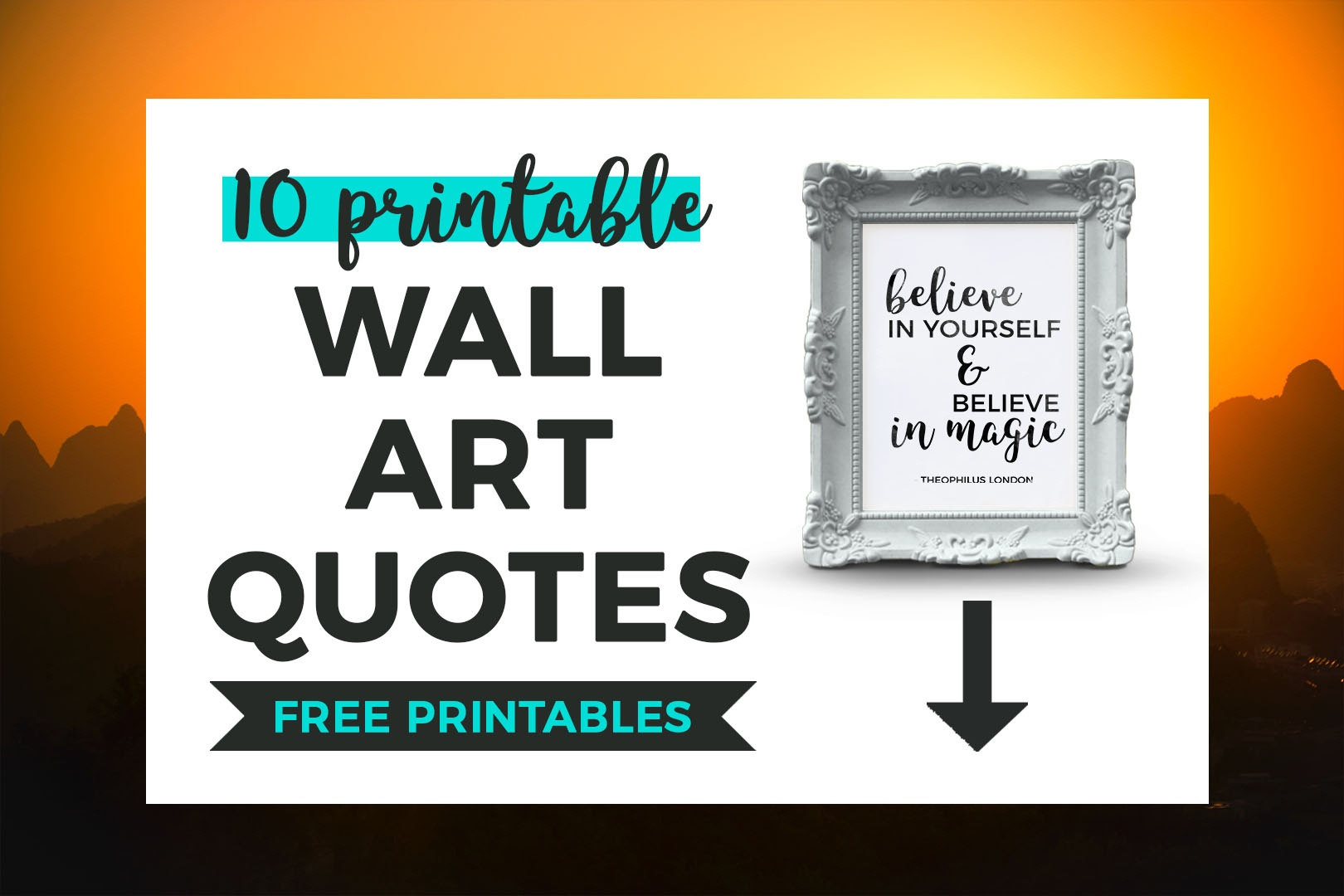 10 Printable Black And White Quotes That Inspire | It's All You Boo - Free Printable Wall Art Quotes