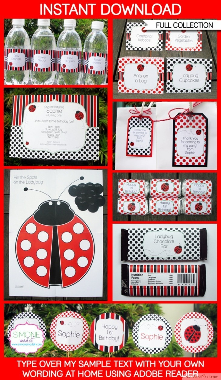 10 Unique Ladybug Baby Shower Invitations Your Guests Will Remember - Free Printable Ladybug Baby Shower Invitations Templates
