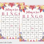 100 Falling In Love Wedding Bingo Cards Fall Bridal Shower | Etsy   Free Printable Bingo Cards 1 100