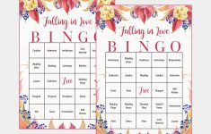100 Falling In Love Wedding Bingo Cards Fall Bridal Shower | Etsy – Free Printable Bingo Cards 1 100