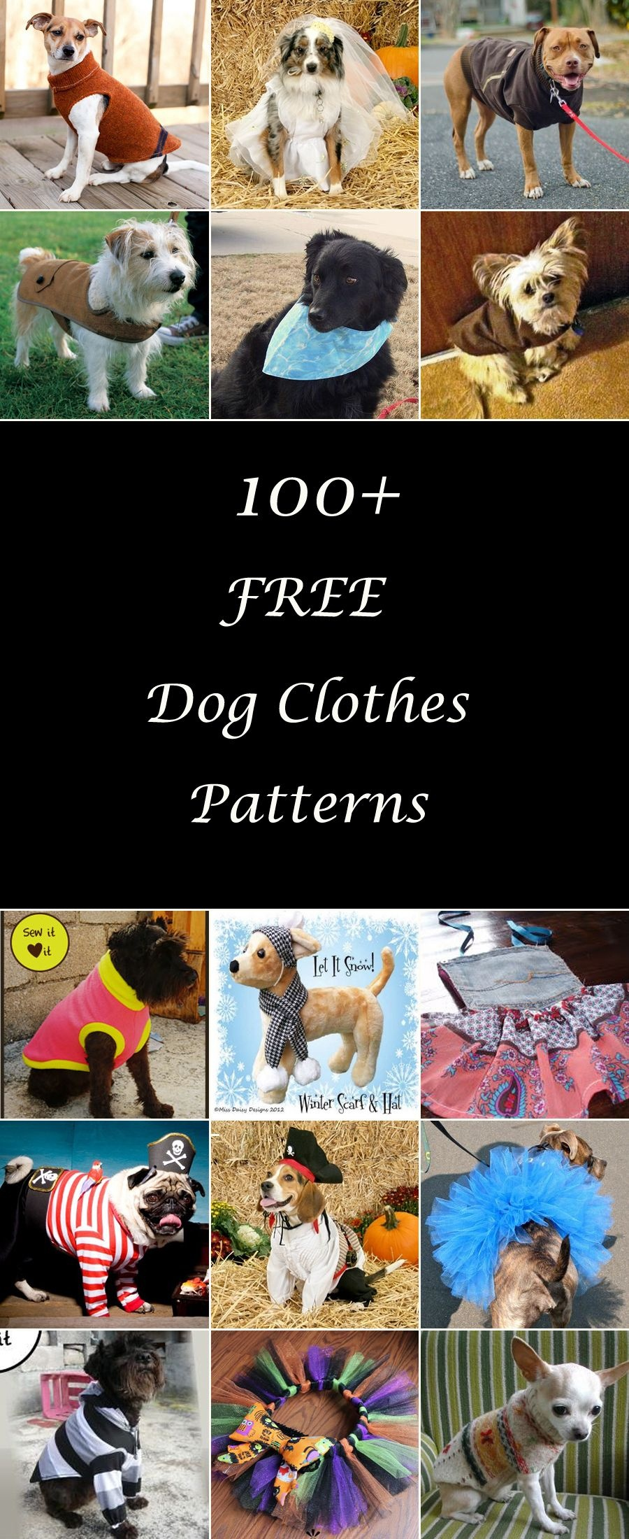 100+ Free Dog Clothes Patterns | Adorable Animals | Dog Clothes - Free Printable Sewing Patterns For Dog Clothes