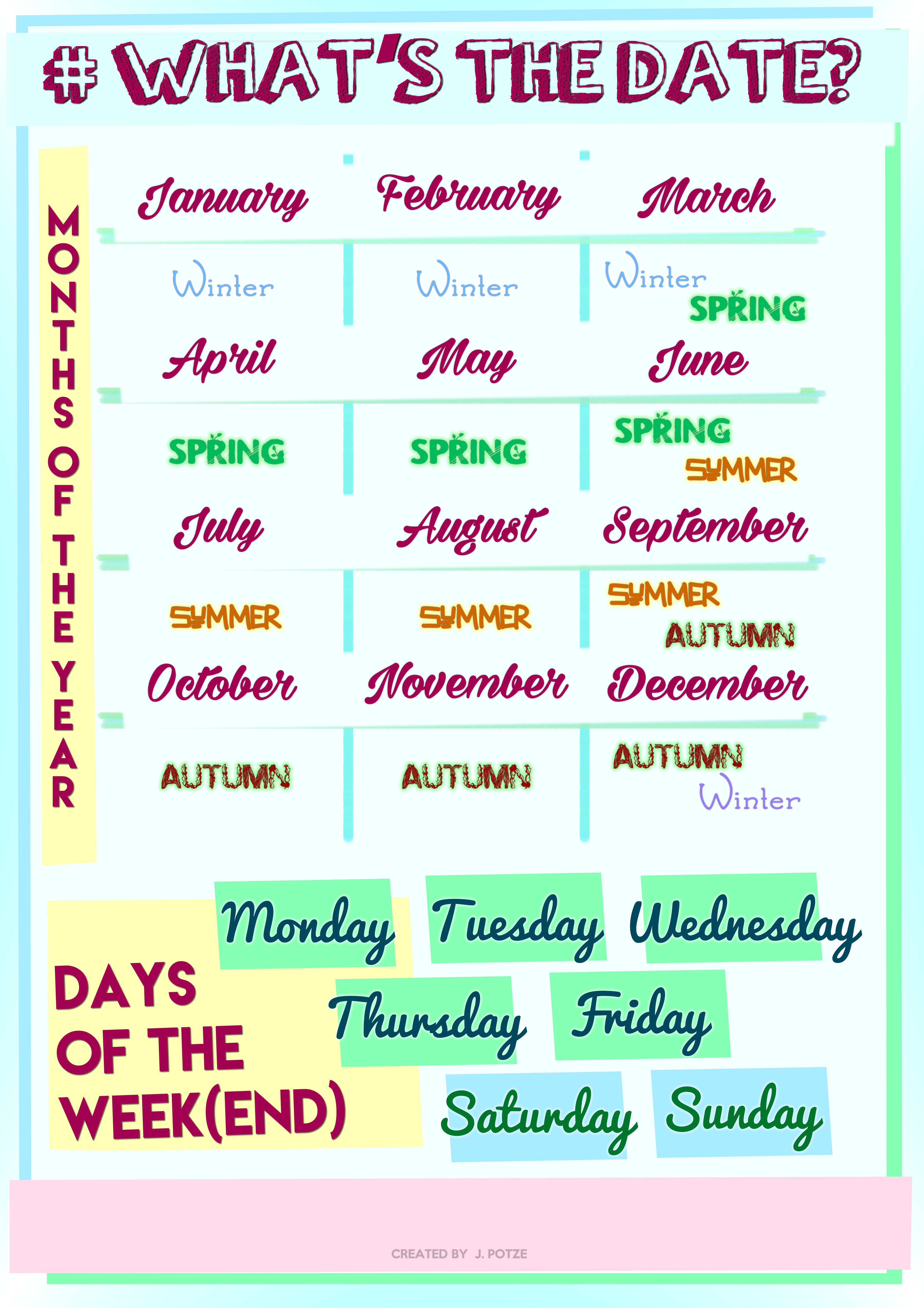 108 Free Months/days Of The Week Worksheets - Free Printable Days Of The Week Cards