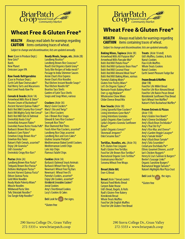 11 Best Photos Of Gluten Free Grocery List Printable - Gluten Free - Gluten Free Food List Printable