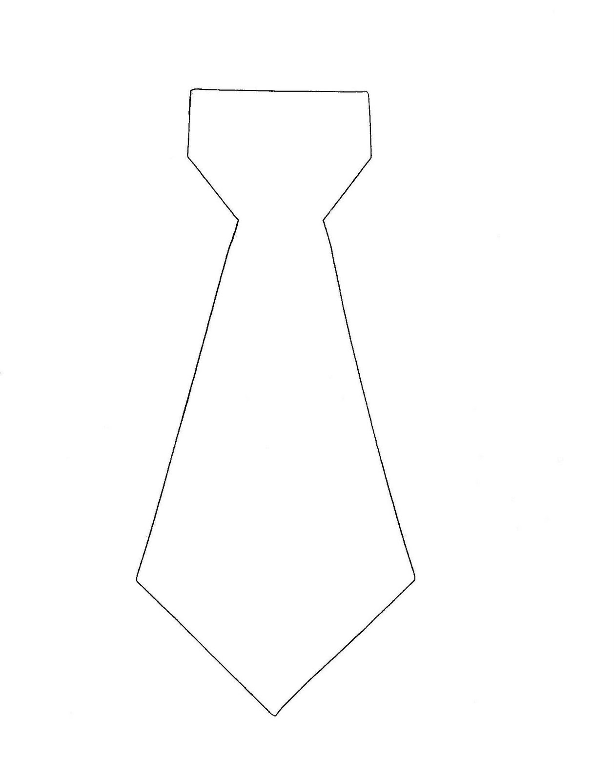 11 Images Of Free Printable Tie Template | Somaek - Free Printable Tie Template