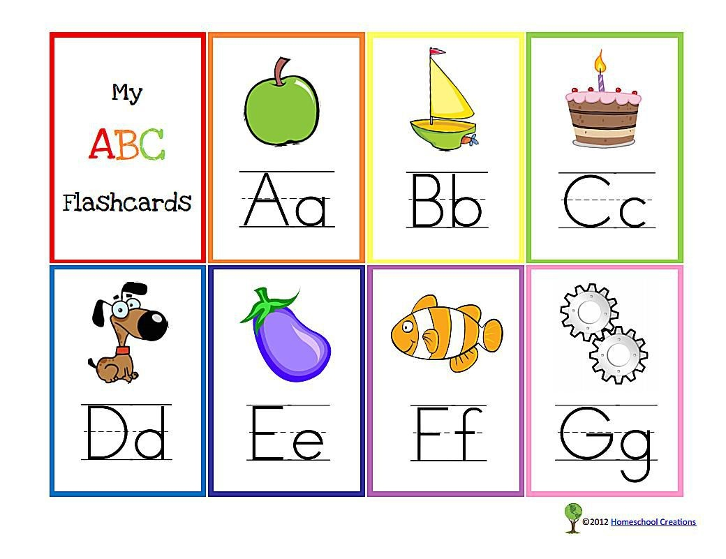 11 Sets Of Free, Printable Alphabet Flashcards - Free Printable Alphabet Cards With Pictures