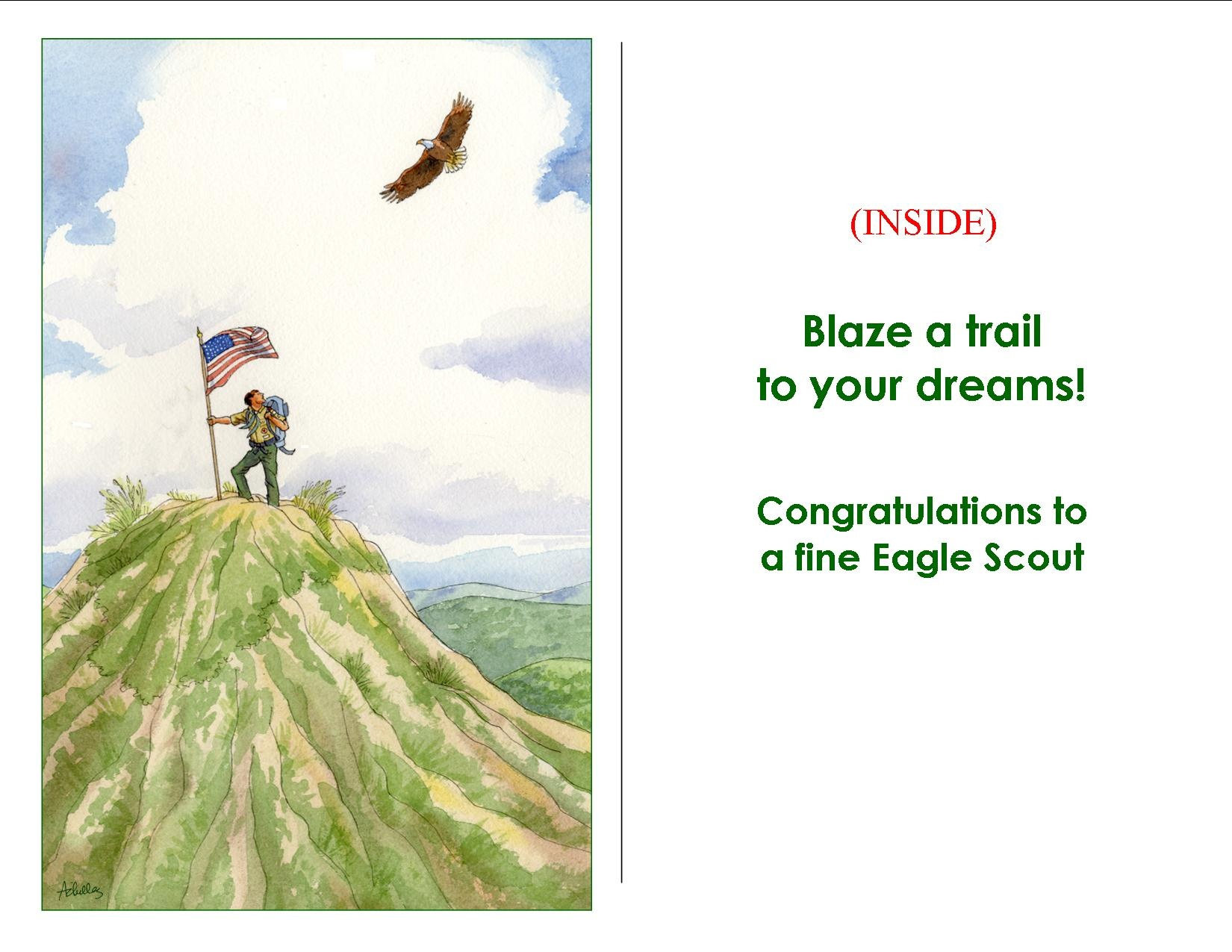 12 Best Photos Of Eagle Scout Congratulations Card Print - Eagle - Eagle Scout Cards Free Printable