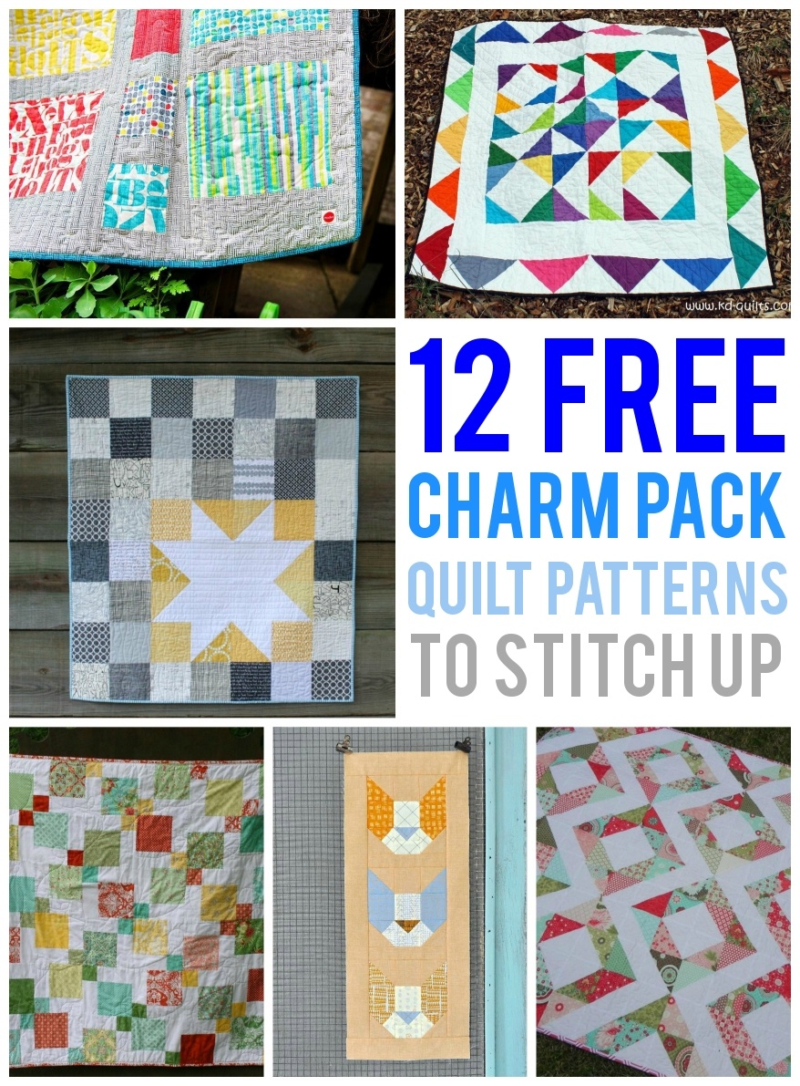 12 Free Charm Pack Quilt Patterns To Stitch Up - Quilt Patterns Free Printable