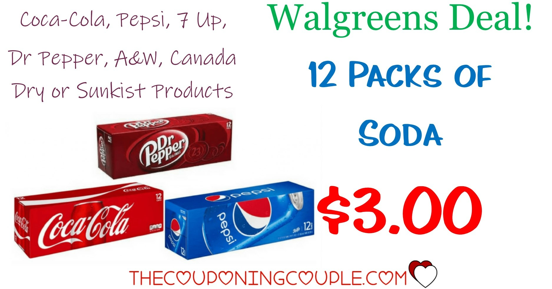 12 Pk Coca-Cola And Pepsi Products Only $3.00 Each @ Walgreens - Free Printable Coupons For Coca Cola Products