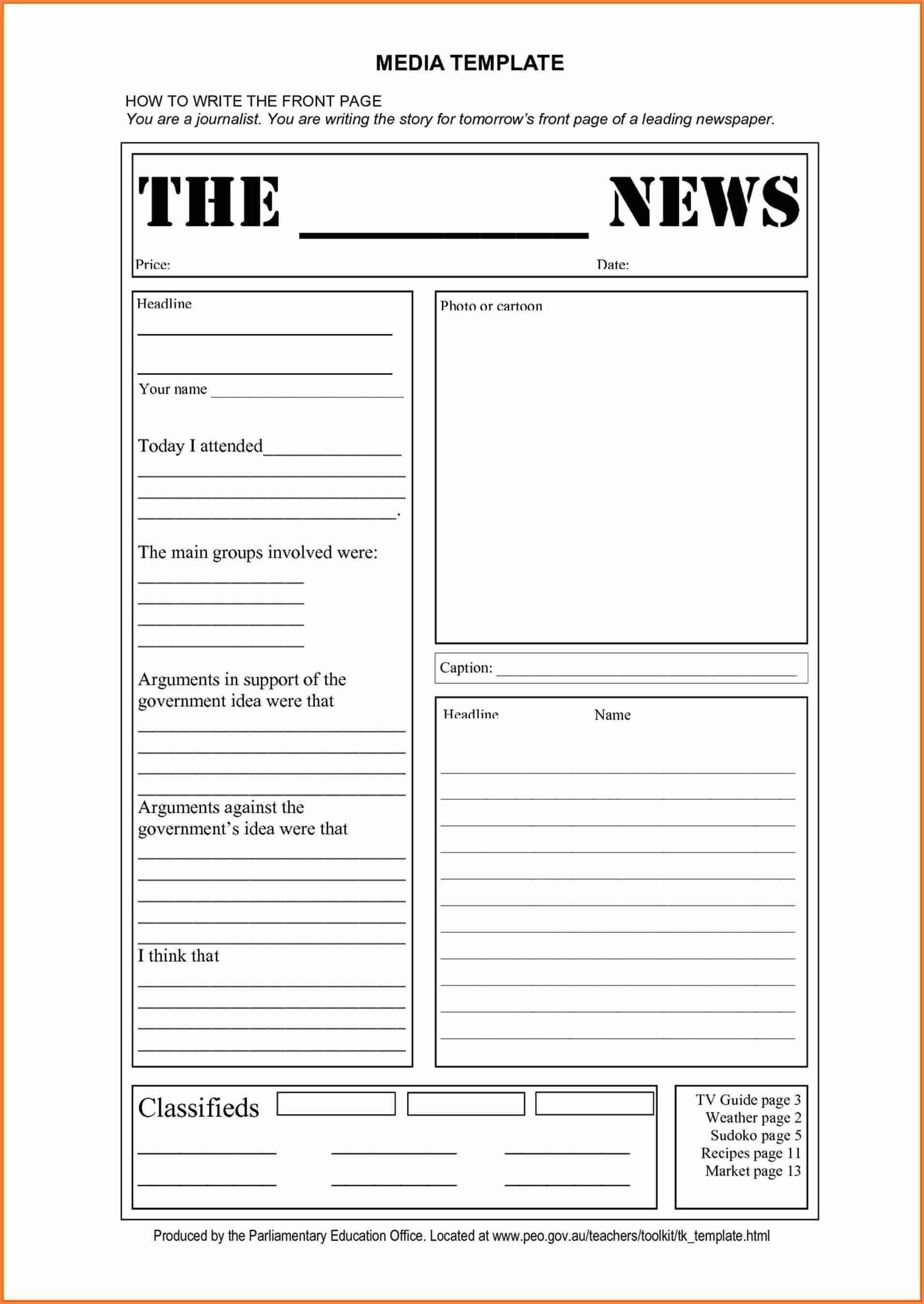 15+ Blank Newspaper Template   Restaurant Receipt - Free Printable Newspaper Templates For Students