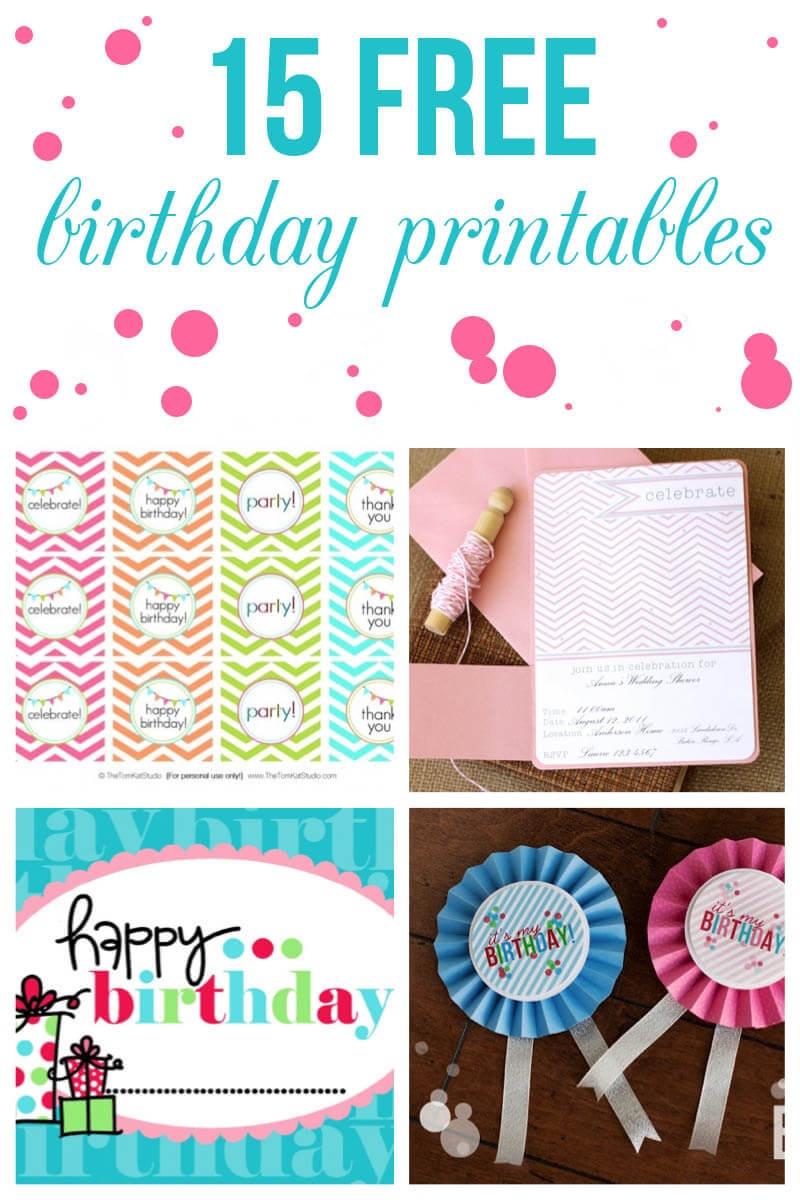 15 Free Birthday Printables - I Heart Nap Time - Free Printable Sweet 16 Labels