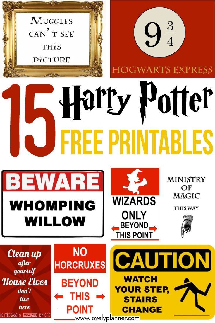 15 Free Harry Potter Party Printables - Part 1 | Harry Potter Party - Free Harry Potter Printable Signs