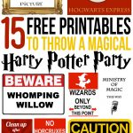 15 Free Harry Potter Party Printables   Part 1   Lovely Planner   Free Harry Potter Printable Signs