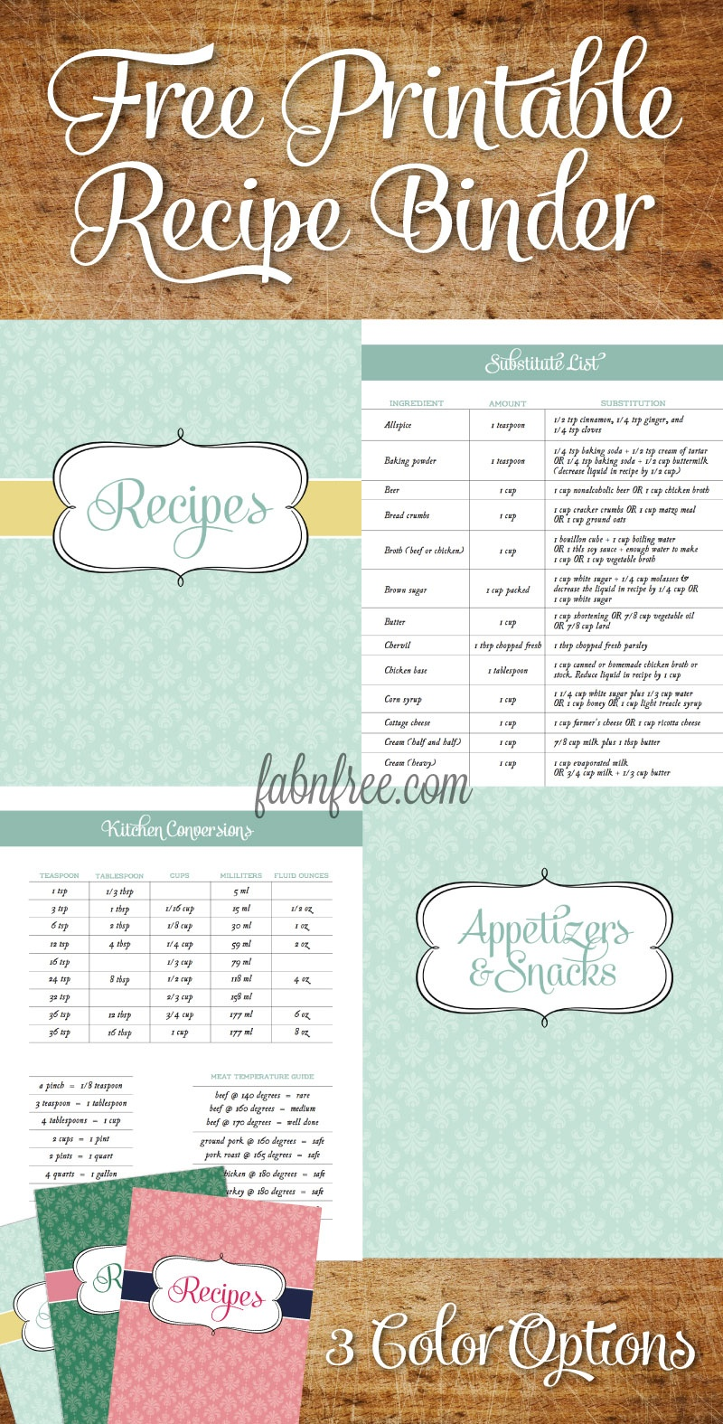 15 Free Recipe Cards Printables, Templates, And Binder Inserts - Free Printable Recipe Page Template