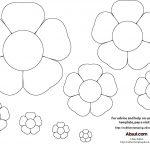 15 Printable Flower Patterns Designs Images   Paper Flower Templates   Free Printable Flower Template