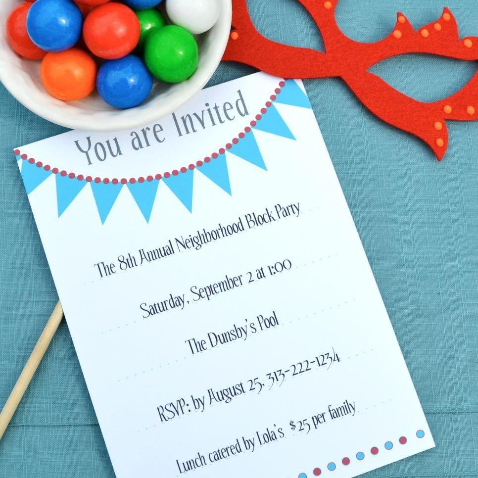 17 Free, Printable Birthday Invitations - Free Printable Water Park Birthday Invitations