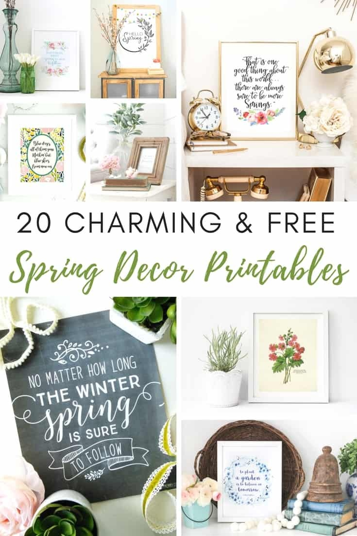 20 Free And Charming Spring Decor Printables - Shabbyfufu - Free Printable Decor