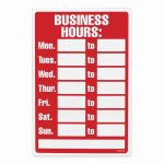 20 Free Printable Business Signs – Guiaubuntupt   Free Printable Business Hours Sign