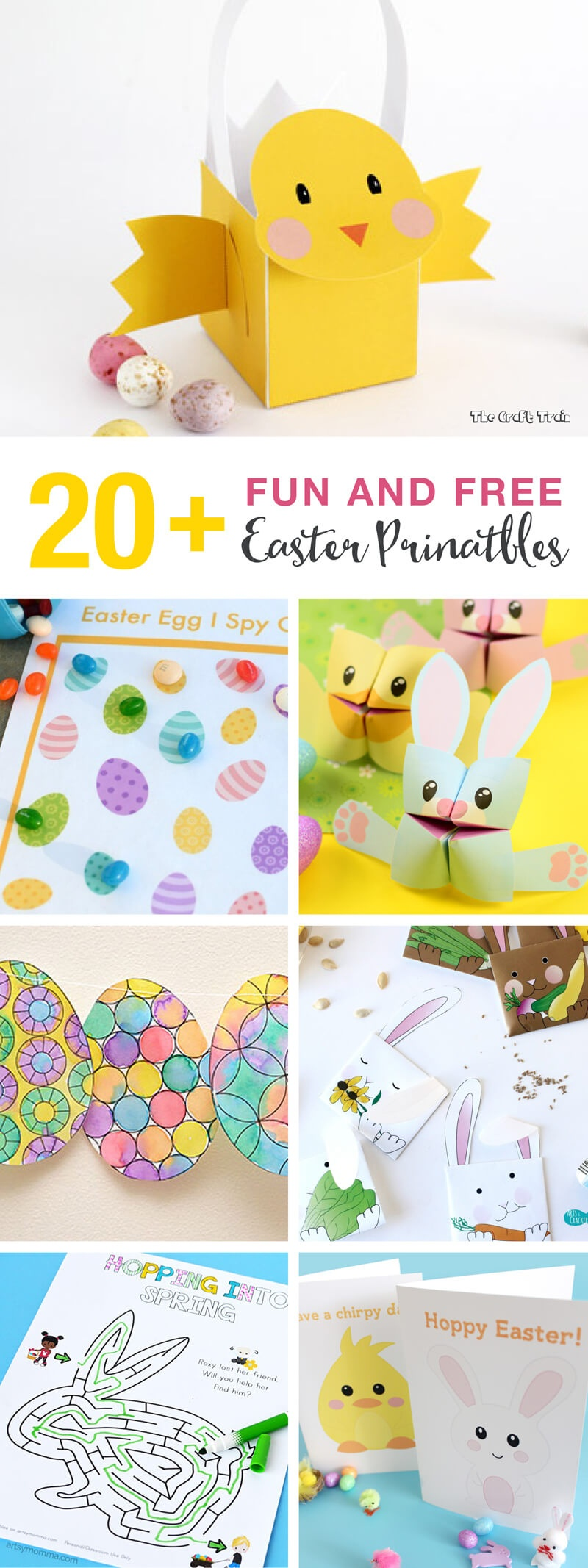 20+ Fun And Free Easter Printables For Kids | The Craft Train - Free Printable Easter Bunting