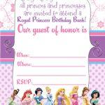 20 Ideas For Disney Princess Birthday Invitations Free Printable   Free Princess Printable Invitations