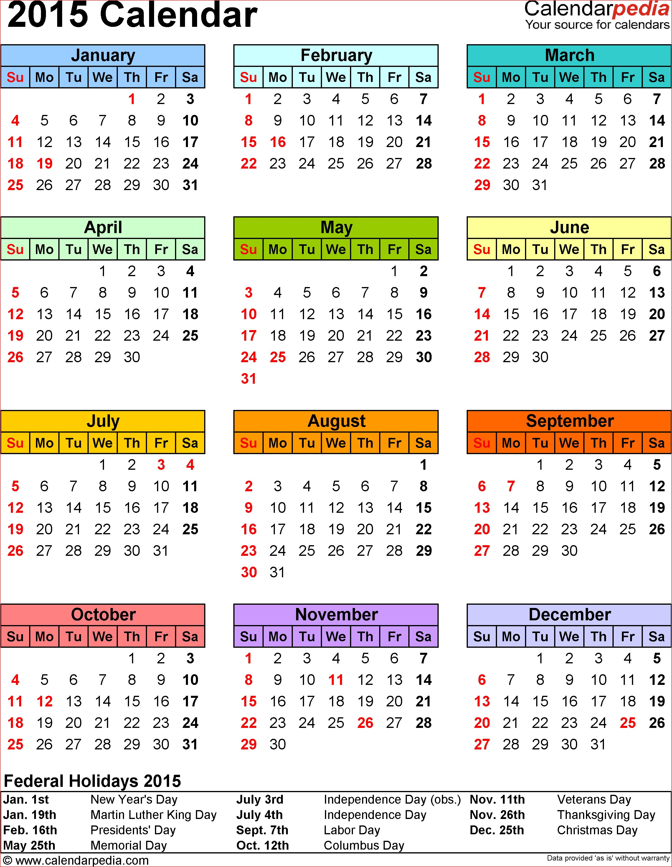 2015 Calendar Printable Free Large Images Free Printable Calendars - Free Printable Diary 2015