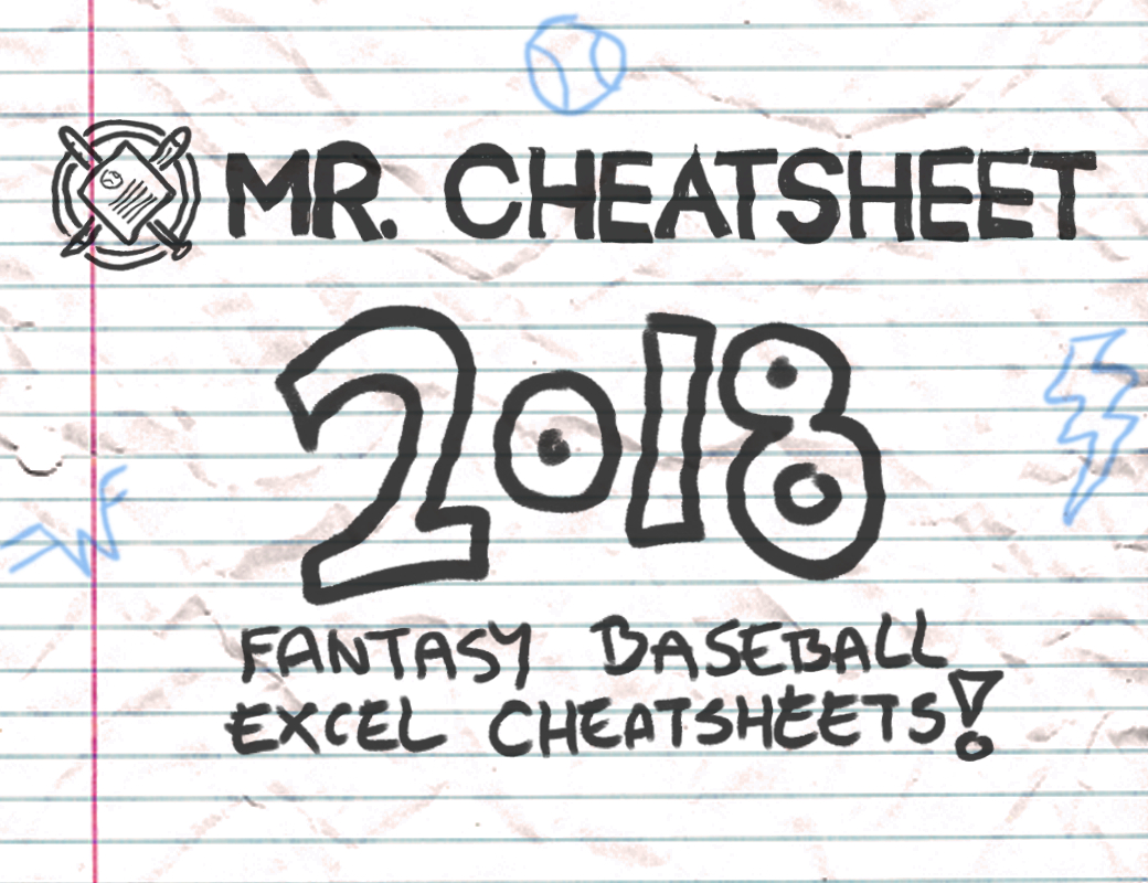 2018 Fantasy Baseball Excel Cheatsheets (Roto And Points Leagues - Fantasy Football Cheat Sheets Printable Free