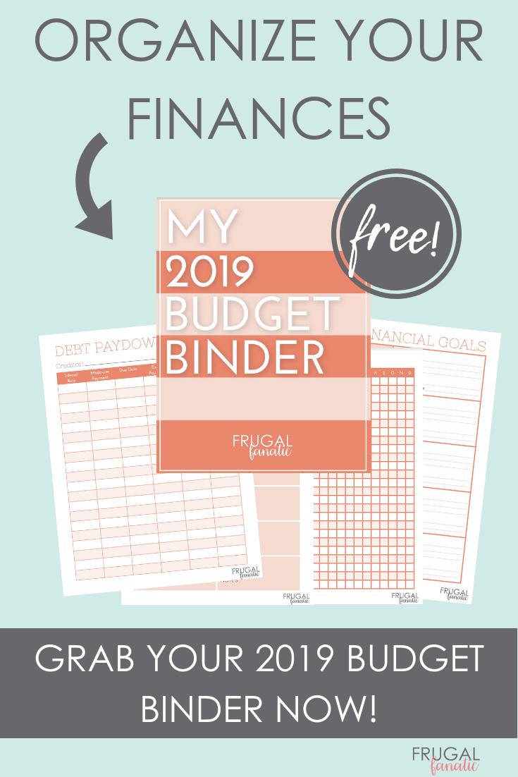 2019 Budget Binder Worksheets - Free Download - Frugal Fanatic - Free Printable Budget Binder Worksheets