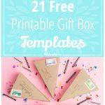 21 Free Printable Gift Box Templates – Tip Junkie   Box Templates Free Printable