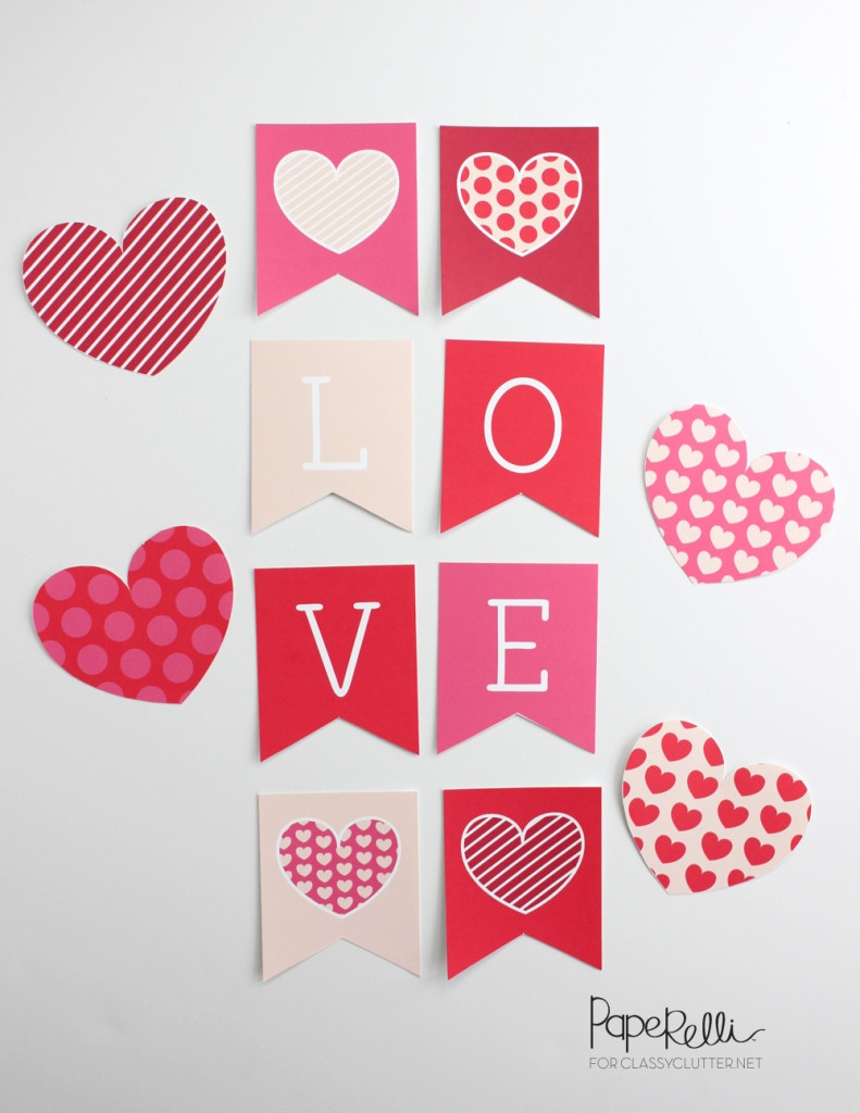 24 Amazing Valentine's Day Printables - Classy Clutter - Free Printable Valentine Decorations