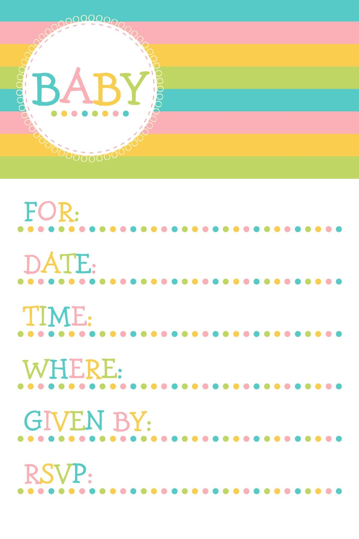 25 Adorable Free Printable Baby Shower Invitations - Free Printable Baby Shower Invitation Maker