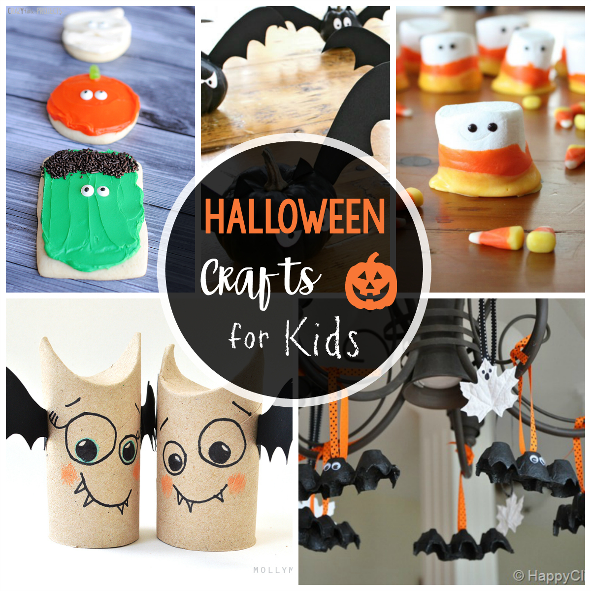 25 Cute & Easy Halloween Crafts For Kids - Crazy Little Projects - Halloween Crafts For Kids Free Printable
