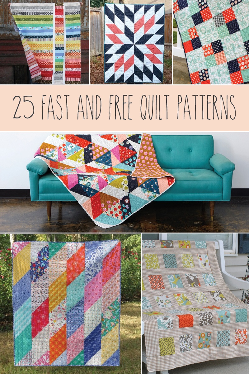 25 Fast And Free Quilt Patterns - - Quilt Patterns Free Printable